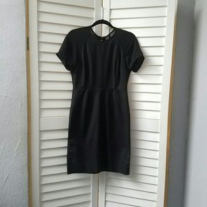 ACNE STUDIOS Black Dress w/mesh back, size 38